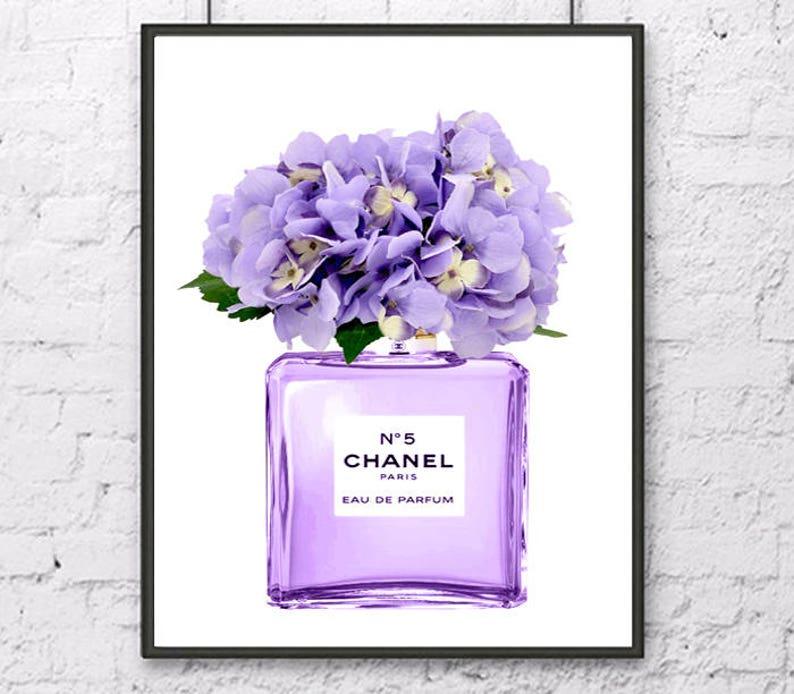 c2ef0f7fbfcc1c Chanel art print Chanel Nr.5 poster Chanel watercolor painting   Etsy
