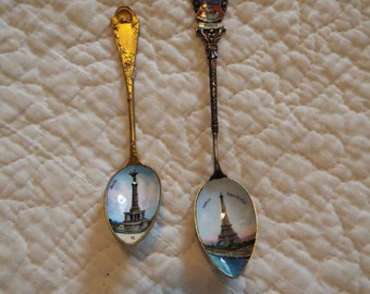 Antique Sterling Silver Collectors Spoon Coat of Arms on Germany Berlin Souvenir Spoon