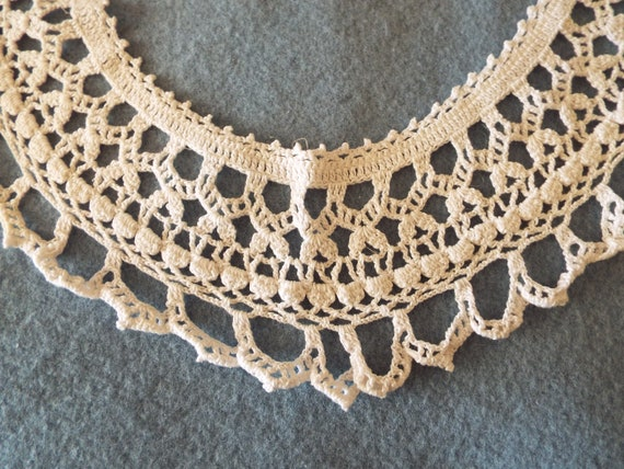 Vintage 1930's 1940's cotton Hand Crocheted Ladie… - image 2