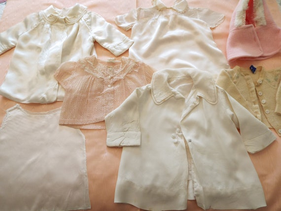 Vintage 1930's Baby Clothes Nightgowns Sweaters Ha