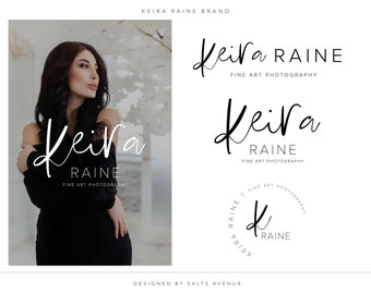 Charcoal Logo Brand Package, Branding Design Kit, Premade Branding Package, Logo Design, Calligraphy Logo, Boutique Logo, Organic Skincare
