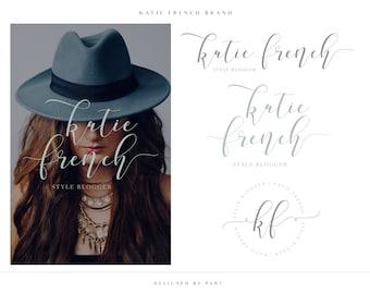 Slate Gray Blue Logo Brand Package, Branding Design, Premade Branding, Logo Design, Event Stylist Logo, Photography Logo, Style Blogger