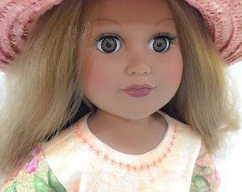 "Garden Floral Pattern 18"" Doll Jumper Dress Doll Clothes"