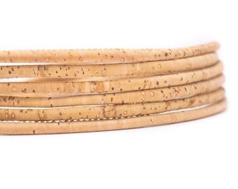 1 meter 39 in European product 5 mm Genuine Cork Cord Brown
