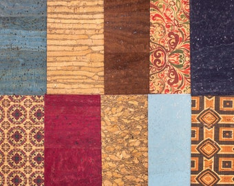 Big size Cork fabric sample random14*20cm(about)+-  10pcs-F-801