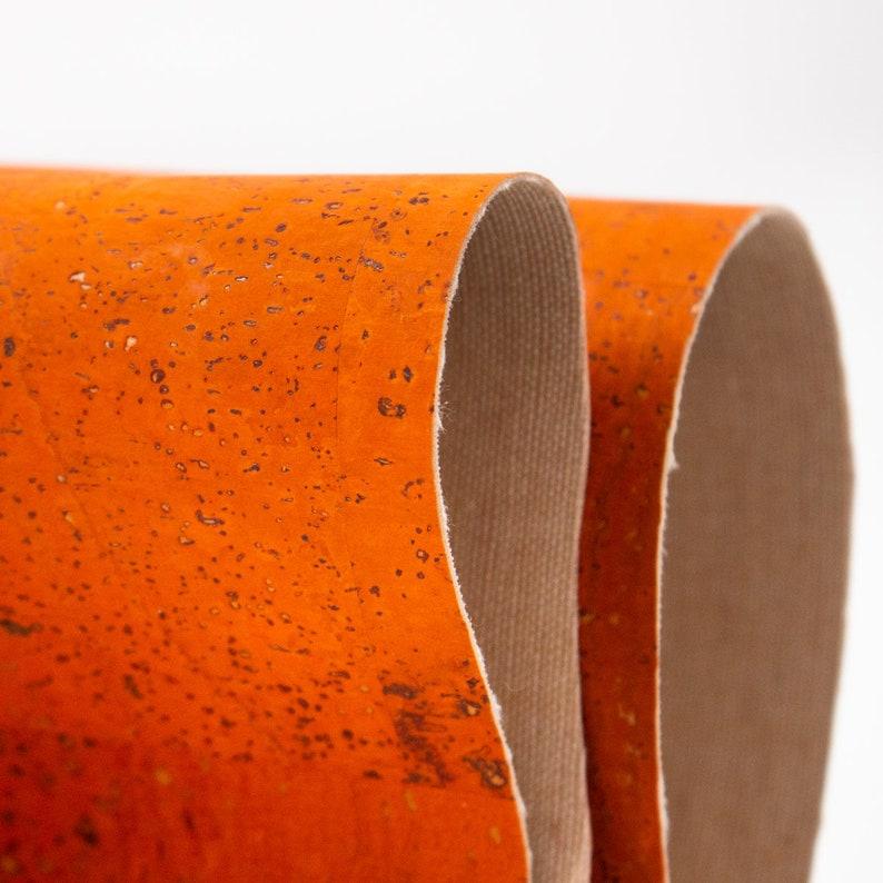 Cork fabric 26X19.inch68X50cm Portuguese natural Material orange Cork Fabric Natural Cork Vegan fabric Kork corcho  COF-126