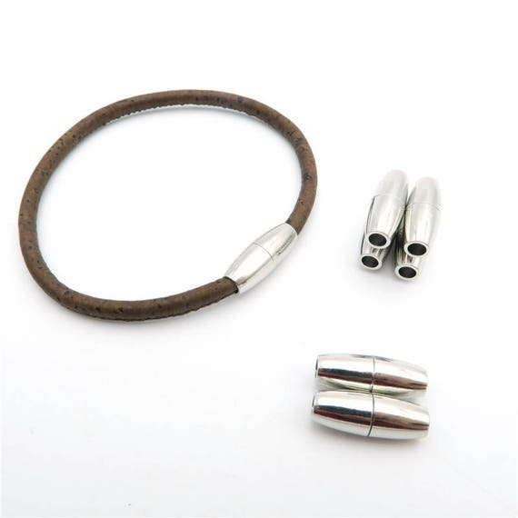 Gorgeous Brown Real Leather magnet bracelet magnetic clasp men energy stress relief elegant style Gift for him Christmas