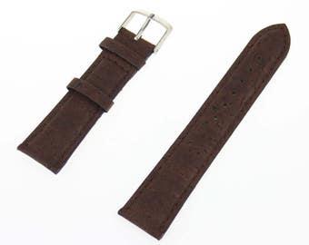 Brown cork watch strap handmade original natural vegan 18mm 20mm 22mm 24mm watch Bands E-001