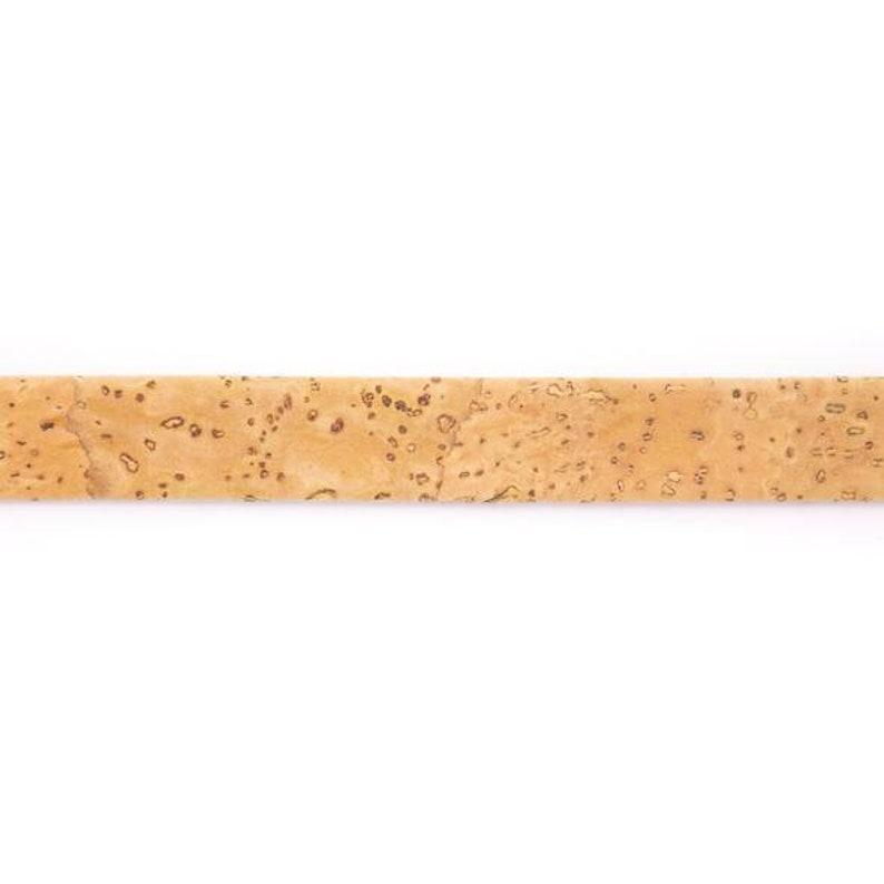 10mm Flat cork cord Vegan cord Portuguese cork Flat Cord jewelry finding vegan cork cord COR-525