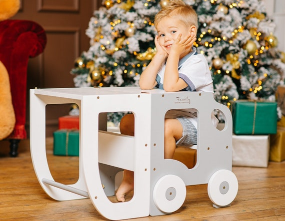 Kitchen  step stool for toddler/table and stool all in one