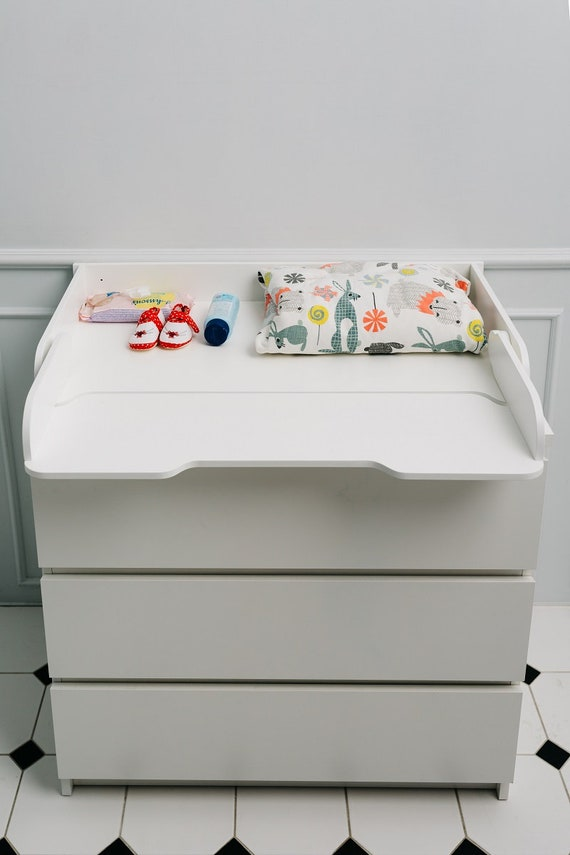 Changing table top, changing table top for IKEA dressers, Shelf and changing table – all in one, Changing table dresser