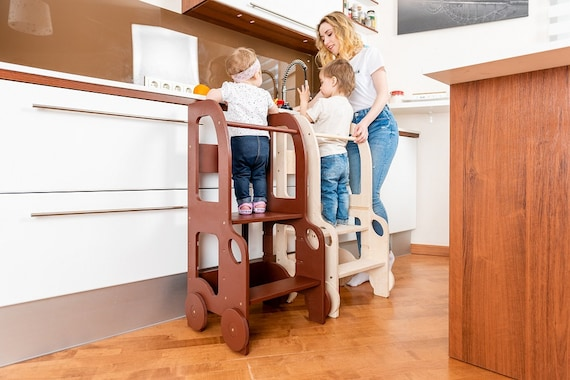 Kitchen changing heights step stool/ kitchen step stool for toddler