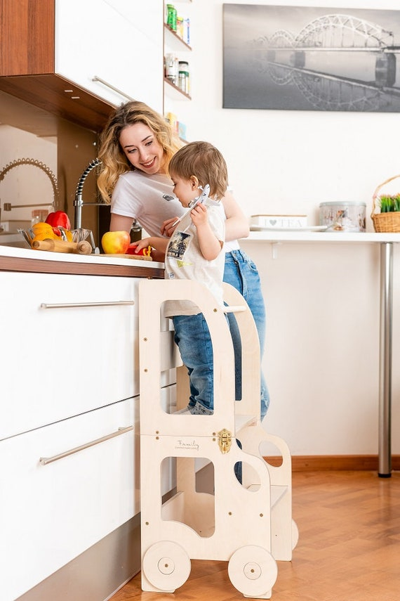 Montessori kitchen  step stool for children/ table and chair - READY to SEND OUT