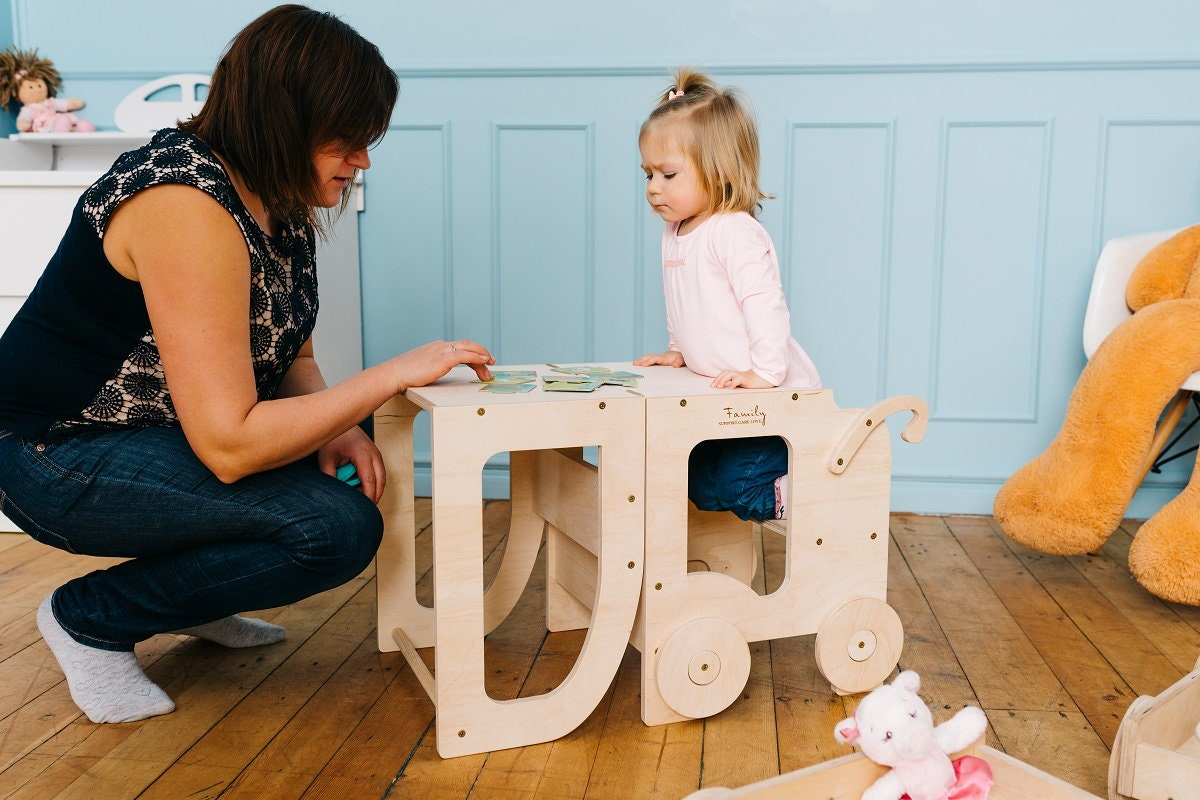 Montessori Kitchen Step Stool For Children Table And