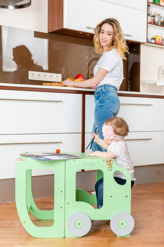 Kitchen tower/ step stool for toddler/
