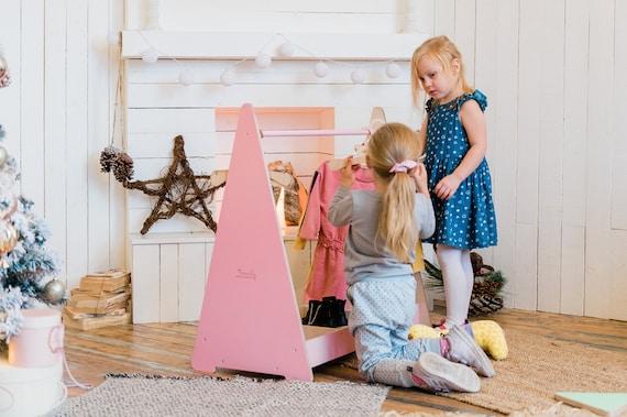 Clothing Rack, Baby Wardrobe Storage, Montessori Clothing Rack with Storage, Dress up Station, Kids Clothing Storage, Kids Closet
