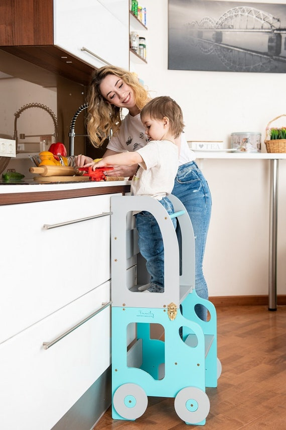 Kitchen step stool for children/ table and chair/montessori stool
