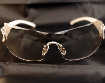 JIMMY CRYSTAL Sunglasses with SWAROVSKI GL-952-wht. Unbranded. Women's sunglasses. Coming from business clearance Sunglasses lady