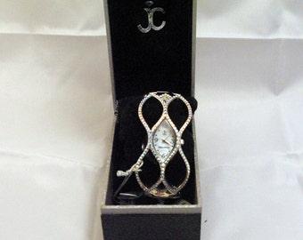 JIMMY CRYSTAL Women's Watch with SWAROVSKI WJ-602 _ AB. Unbranded. Wrist watch girl. From trade settlement. Lady Watch