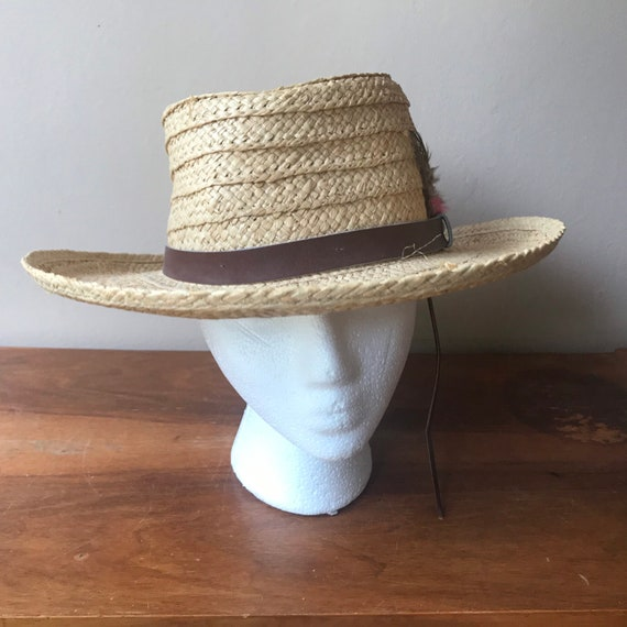 Sierra Club Straw Hat, Sun Hat, Summer Hat, Straw… - image 2