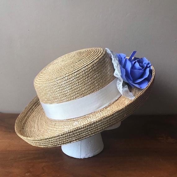 Straw Boater Hat, Beach Hat, Summer Hat, Garden H… - image 2