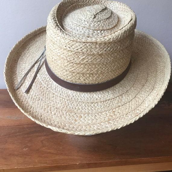 Sierra Club Straw Hat, Sun Hat, Summer Hat, Straw… - image 4