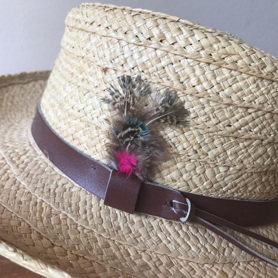 Sierra Club Straw Hat, Sun Hat, Summer Hat, Straw… - image 5