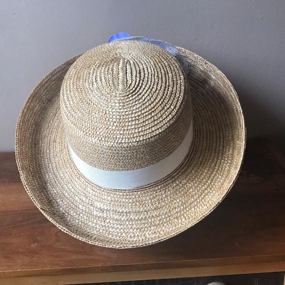 Straw Boater Hat, Beach Hat, Summer Hat, Garden H… - image 8