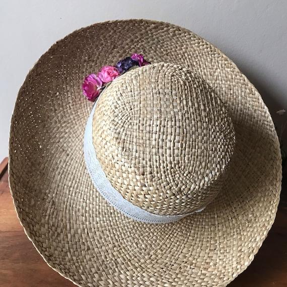 Straw Sun Hat, Floral Beach Hat, Summer Hat, Gard… - image 2