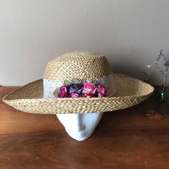 Straw Sun Hat, Floral Beach Hat, Summer Hat, Gard… - image 8