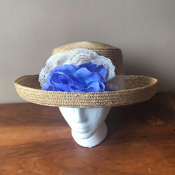 Straw Boater Hat, Beach Hat, Summer Hat, Garden H… - image 3