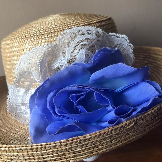Straw Boater Hat, Beach Hat, Summer Hat, Garden H… - image 4