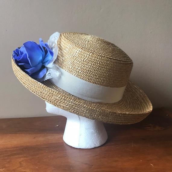 Straw Boater Hat, Beach Hat, Summer Hat, Garden H… - image 6