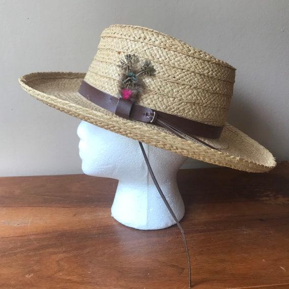 Sierra Club Straw Hat, Sun Hat, Summer Hat, Straw… - image 1