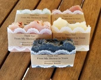 10 mixed soap favors wedding favors bridal shower favors baby shower favors wedding day lace soap handmade customize handmade