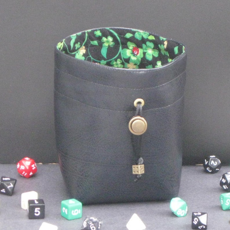 6cfd74a2aab1 Lucky Shamrock Dice Bag, Dice Bag of Holding, Large Leather Drawstring  Pouch, Dungeons and Dragons Dice Bag, Gamer Gift, Money Bag, D&D, RPG