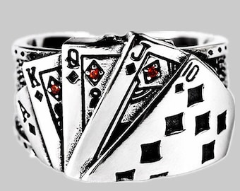 Playing Cards Bracelet Alice in Wonderland Bracelet black jack jewelry Poker Jewelry Card Charm Gift Poker Bracelet black jack gift