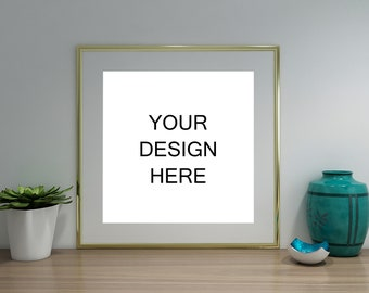 Download Free Frame Mockup, Frame Mock-Up, Simple Mockup, Gold Mockup Frame Frame, Poster mockup, Wall Art Display, Styled stock Photography | MPFM_21_3 PSD Template