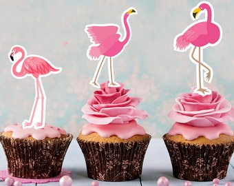 Flamingo Cupcake Toppers bc8702f8490