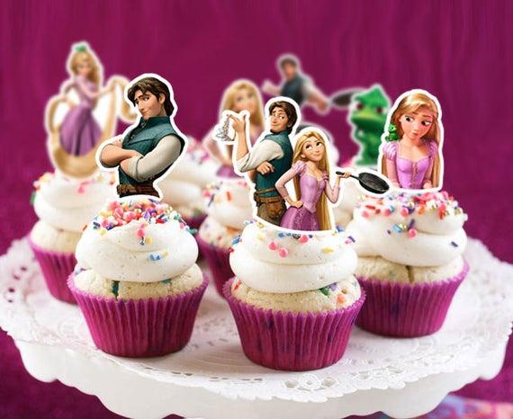RAPUNZEL Cupcake Topper Gift
