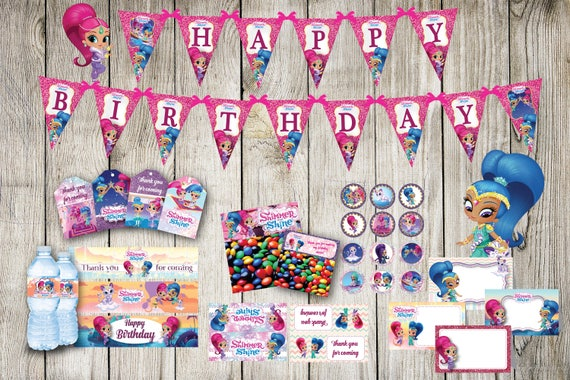 Shimmer And Shine Party Package DOWNLOAD Digital File