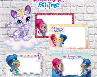Shimmer and Shine Food Tent Cards , Printable Shimmer and Shine party Food labels, Shimmer and Shine Food table labels | SH_FULL