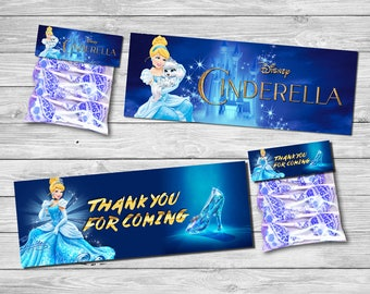 CINDERELLA Bag Topper, CINDERELLA Gift Bag Topper, Bag Topper for CINDERELLA Birthday, Party Bag Topper, Movie Printables | CI_CANDY