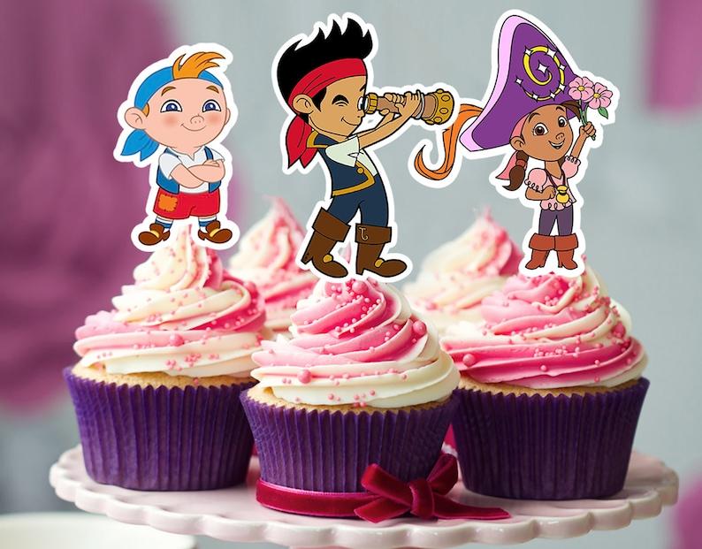 Enjoyable Jake And The Neverland Cupcake Topper Jake And The Neverland Etsy Personalised Birthday Cards Fashionlily Jamesorg