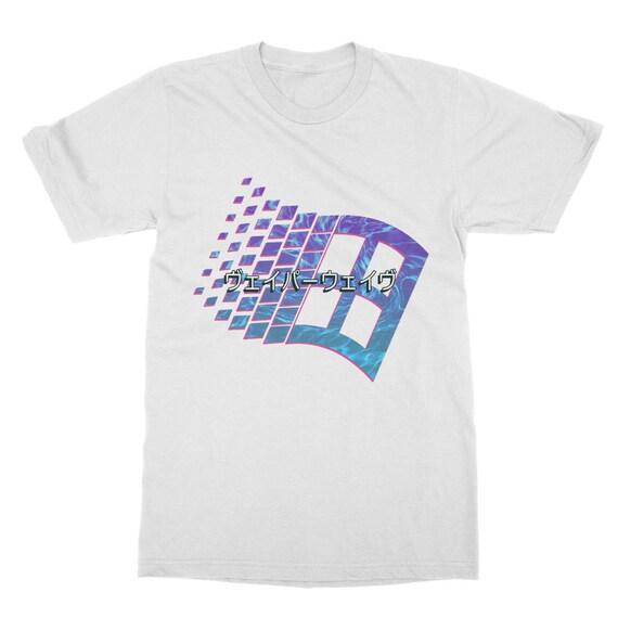 シ Vaporwave Aesthetic Original Windows to the Soul Unisex Double Sided Sublimation Printed T-Shirt シ pU7oy