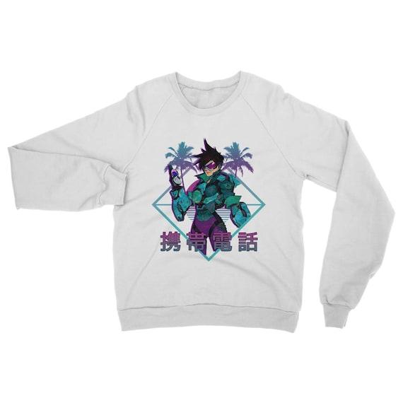 シ Vaporwave Aesthetic Miami Tracer Unisex Sweatshirt シ seWWDNUl5e