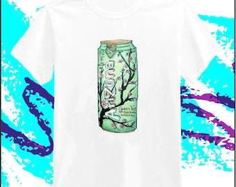 シ Vaporwave AESTHETIC Arizona Green Tea Short Sleeve T-Shirt シ