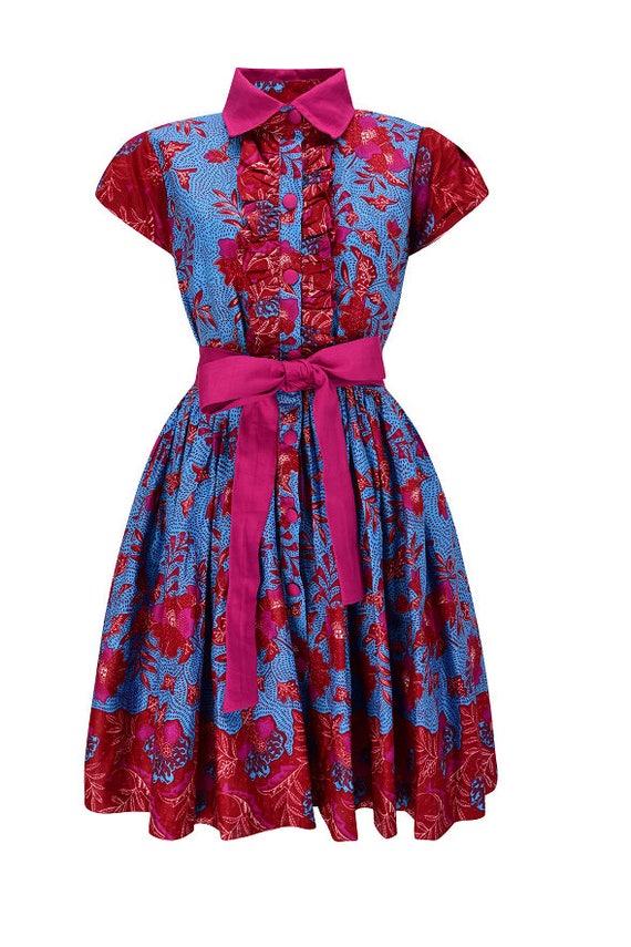 pressure African Nr KK printed 0006 201707 Midy dress print Midy Ankara Ankara print African dress art H1wT08U
