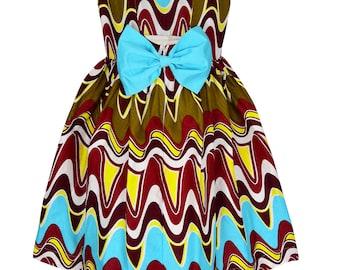 Ankara  dress, African girl dress, Ankara dresses, African print dress, infant dresses MK-201704/00001