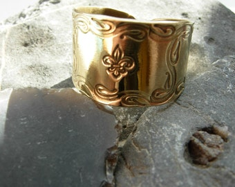 Big GOLD finish FLEUR DE LIS metal Belt Buckle 316